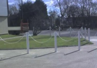 bollards with chains